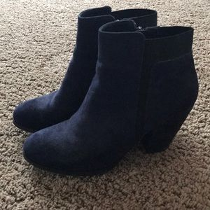 Shoes - Blue suede booties